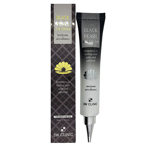 Антивозрастной крем для коживокруг глаз с экстрактом чёрного жемчуга 3W Clinic Black Pearl Eye Cream