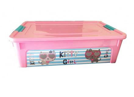 Пластиковый контейнер для игрушек Smart box с декором My Car 14 л