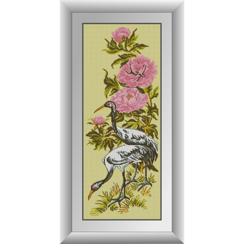 Набор алмазной живописи Пара цапель Dream Art 30880 (33 x 84 см)