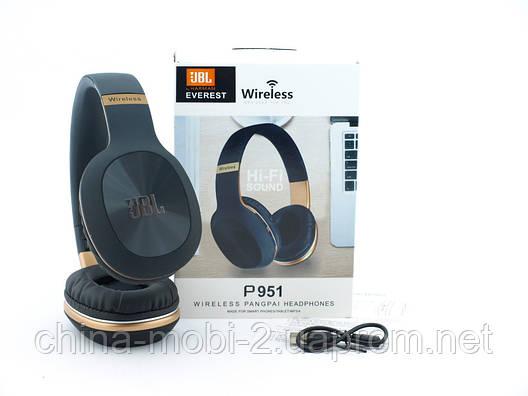 JBL P951 Headset копия, bluetooth наушники с FM MP3, черные, фото 2