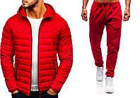 Куртка+ штаны + СКИДКА | мужской комплект до 0*С демисезонный красный