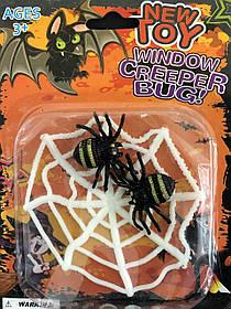 """Павуки на павутинці на Хелловін, Декор """"Пауки на паутинке"""" на хэллоуин"""
