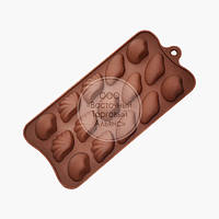 Силіконова форма для шоколаду - Черепашки №2 - 15 осередків