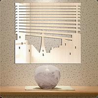 Зеркало оригинальное Окно в Европу 30см х 30см