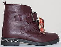 Ботинки женские кожаные демисезонные на низком каблуке от производителя модель СВ809, фото 1