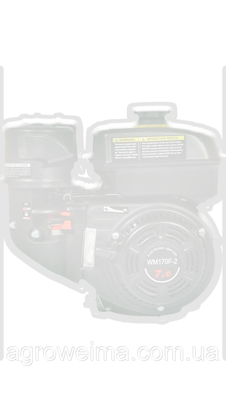 Двигатель дизельный WEIMA WM186FВЕ(вал ШПОНКА), съемный цилиндр , 418cc/диз 9,5л.с., Электро старт.