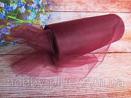 Фатин-сітка, ширина 15 см, колір БОРДОВИЙ