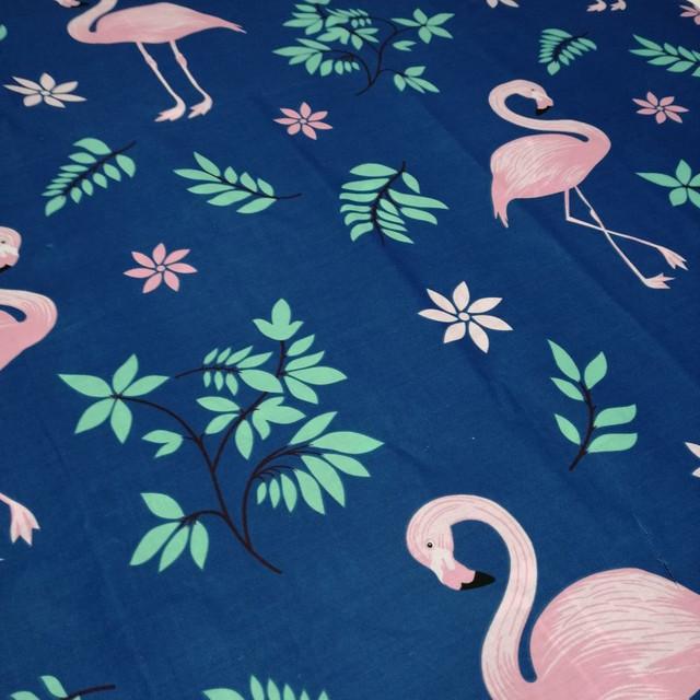 ткань бязь голд премиум розовый фламинго для постельного белья и домашнего текстиля