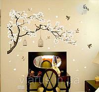 Интерьерная наклейка на стену Цветущая сакура