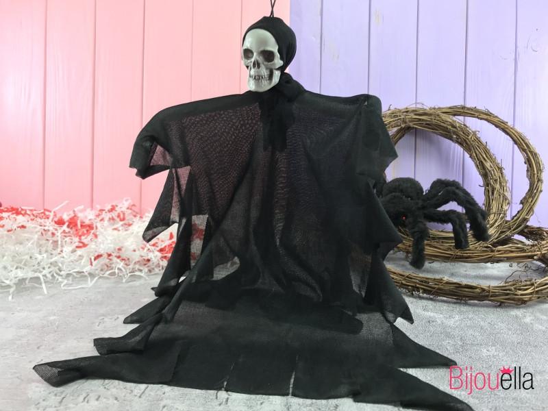Подвесной маленький череп 30 см декор для Хеллоуина тематической вечеринки 6 штук в упаковке