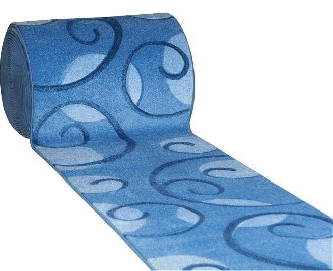 """Рельефный ковер, дорожка Арда """"Усики"""", цвет синий"""