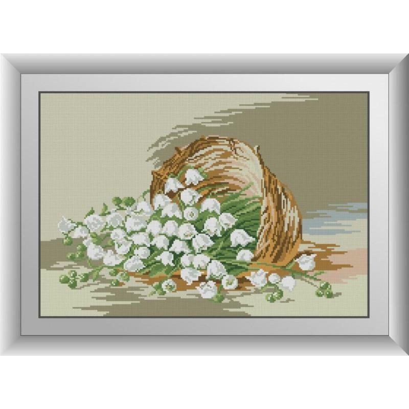Картина-мозаика камнями Подснежники Dream Art 30881 (38 x 56 см)