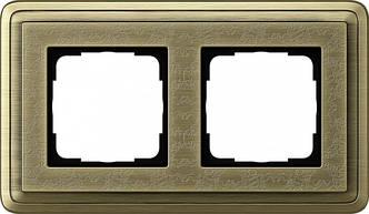 Gira 0212661 Рамка установочная 2 поста Gira ClassiX Art бронза