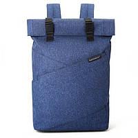 """Рюкзак для ноутбука 15.6"""" BAGSMART роллтоп городской синий, фото 1"""