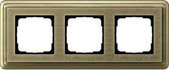 Gira 0213661 Рамка установочная 3 поста Gira ClassiX Art бронза