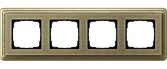 Gira 0214661 Рамка установочная 4 поста Gira ClassiX Art бронза