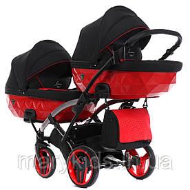 Детская универсальная коляска для двойни Junama Diamond Duo S-line Slim 01