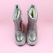 Дутики сапожки для девочки зимние серебро тм Bi&Ki размер 28,29, фото 3