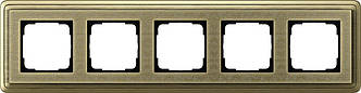 Gira 0215661 Рамка установочная 5 постов Gira ClassiX Art бронза