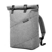 """Рюкзак  для ноутбука 15.6"""" BAGSMART роллтоп городской серый, фото 1"""