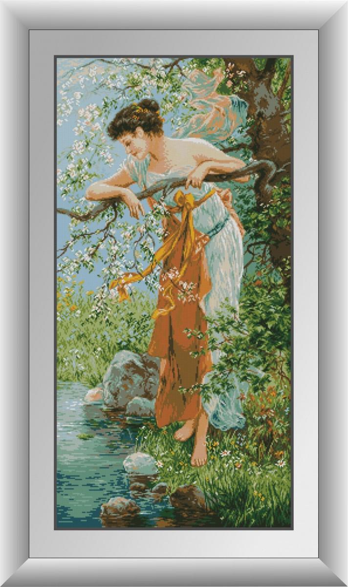 Алмазная мозаика Очарование весны Dream Art 30882 (50 x 100 см)