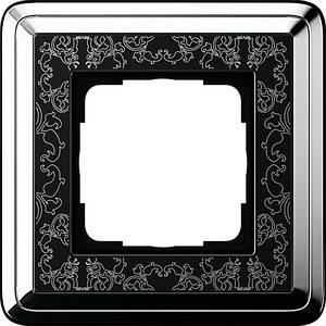 Gira 0211682 Рамка установочная 1 пост Gira ClassiX Art хром черный