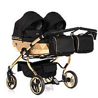 Детская универсальная коляска для двойни Junama Mirror Satin Duo 01