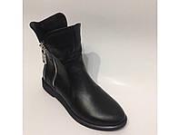 Кожаные ботинки на меху, фото 1