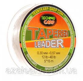 Шок лидер конусный (TECHNOCARP 0,3-0,57 мм 5*15 м )