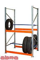 Стеллаж для шин для склада/магазина/гаража SN-Ш-2 2000х1230х900, оцинкованный, 3 яруса, до 350 кг/ярус