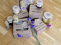 Подарунковий набір з натурального меду та свічок з вощини