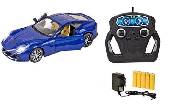 Машина  DIE-CAST железная на радиоуправлении синяя