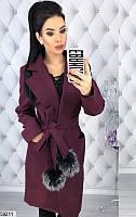 Женское демисезонное пальто кашемировое (42-48)