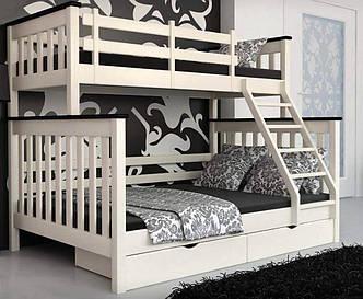Двох'ярусне ліжко Скандинавія сосна 140х90х200