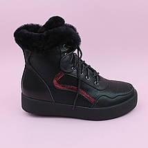 Зимние черные кожаные ботинки для девочки бренд Bi&Ki размер 35,37, фото 3