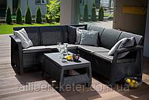 Набор садовой мебели Bahamas Relax Set Graphite ( графит ) из искусственного ротанга ( Allibert by Keter )