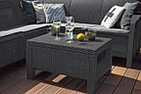 Набор садовой мебели Bahamas Relax Set Graphite ( графит ) из искусственного ротанга ( Allibert by Keter ), фото 7