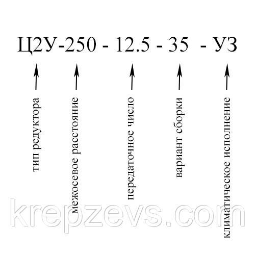 Купить двухступенчатый горизонтальный редуктор Ц2У-250 в Украине