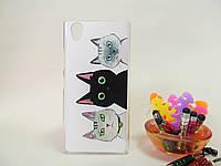 Пластиковый бампер панель накладка чехол с рисунком на Lenovo P70 Коты