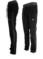 Спортивные брюки женские трикотажные черные, фото 1