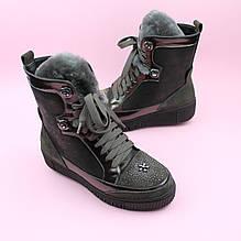 Зимние кожаные ботинки для девочки коричневые бренд Bi&Ki размер 34,35,36,37,38,39