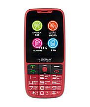 Телефон Sigma mobile Comfort 50 Elegance3 (1600mAh) red (официальная гарантия)