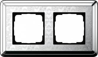 Gira 0212681 Рамка установочная 2 поста Gira ClassiX Art хром