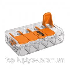 Клемма 5-конт д/расприд коробок, универсальная, 0,2-4 мм2, проз, WAGO