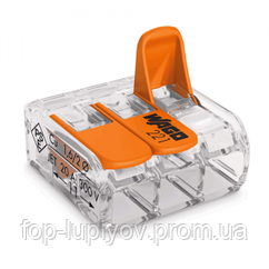 Клемма 3-конт д/расприд коробок, универсальная, 0,2-4 мм2, проз, WAGO