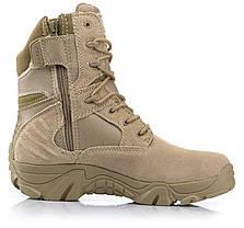 Песочные тактические ботинки берцы Delta Cordura Тайвань, фото 2