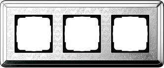 Gira 0213681 Рамка установочная 3 поста Gira ClassiX Art хром
