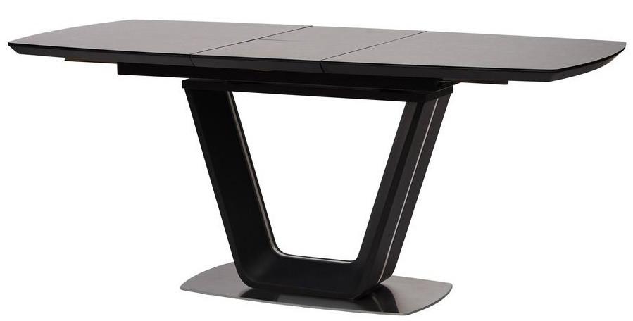 Стол Gloucester 140-180 см раскладной стекло + МДФ  тёмно-серый ТМ Concepto