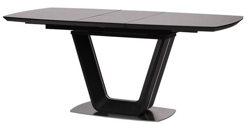 Стол Gloucester 140-180 см раскладной стекло + МДФ  тёмно-серый ТМ Concepto, фото 2