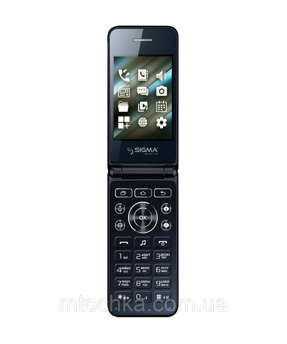 Телефон Sigma mobile X-Style 28 Flip blue (официальная гарантия)